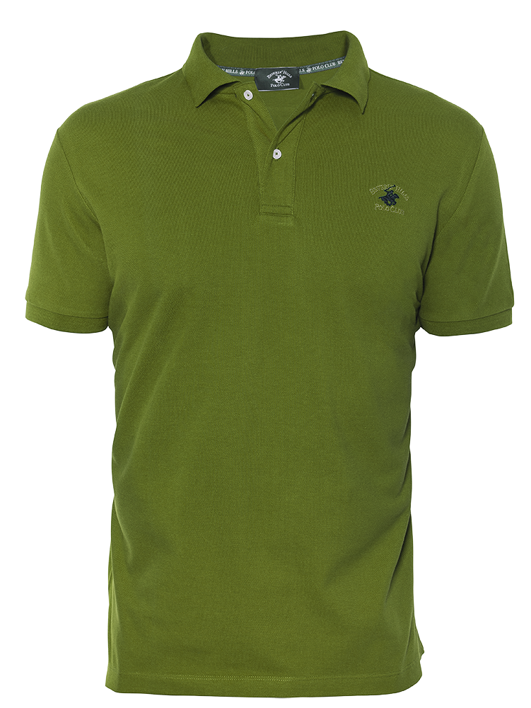 LUXURY PIQUÉ REGULAR FIT LEAF GREEN POLO