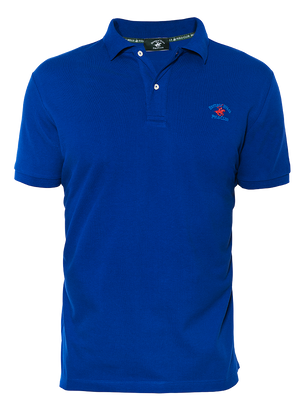 LUXURY PIQUÉ REGULAR FIT ROYAL BLUE POLO