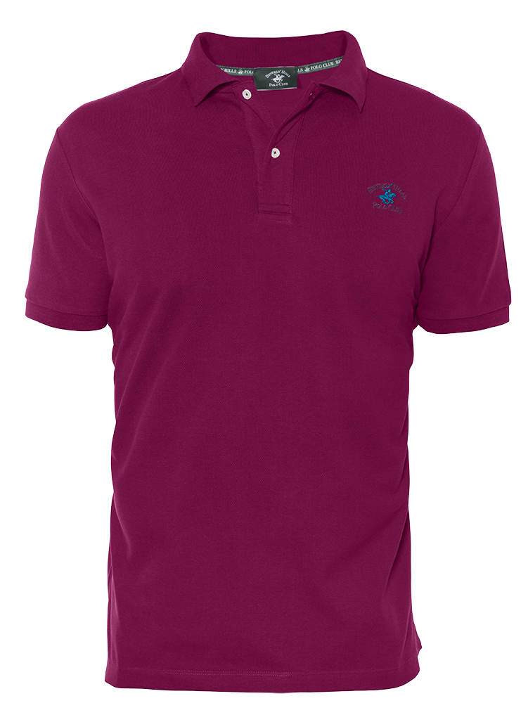 LUXURY PIQUÉ REGULAR FIT PLUM POLO