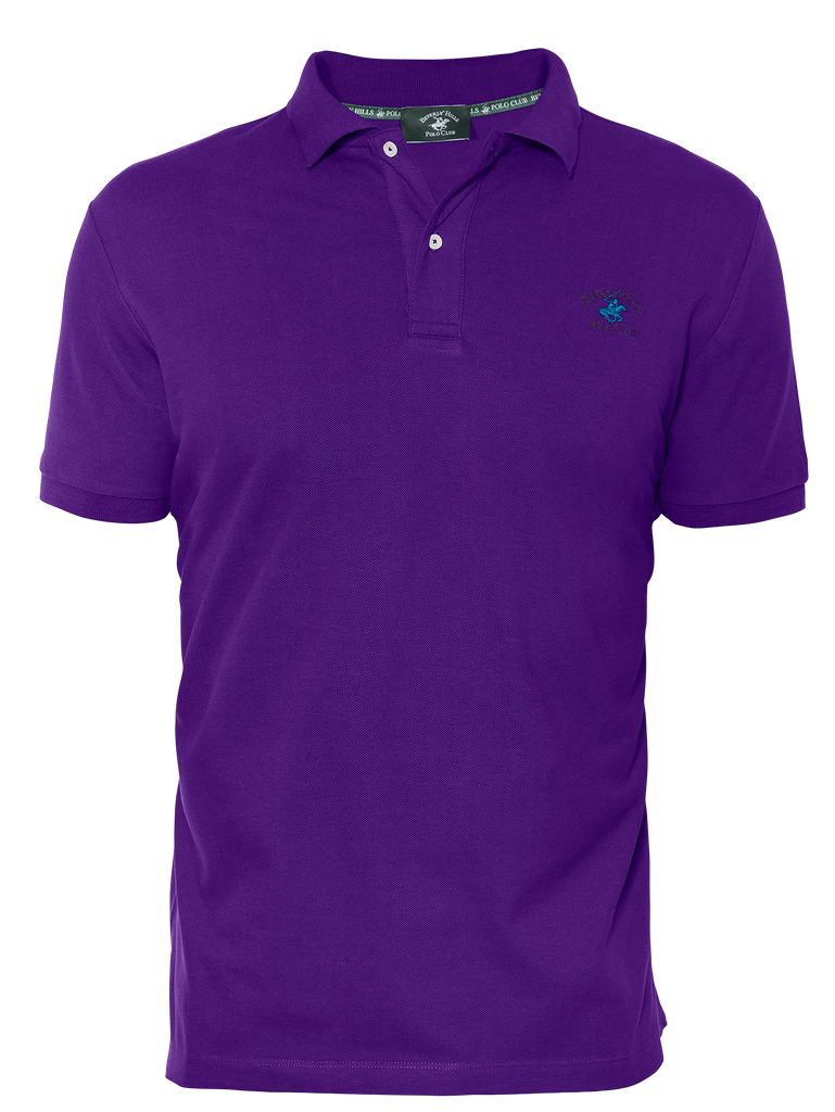 LUXURY PIQUÉ REGULAR FIT VIOLET POLO