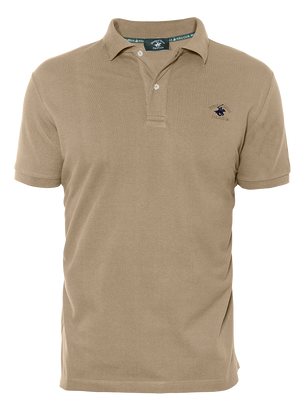 LUXURY PIQUÉ REGULAR FIT SAND POLO