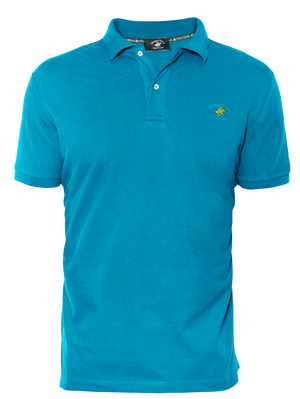 LUXURY PIQUÉ REGULAR FIT TURQUOISE POLO