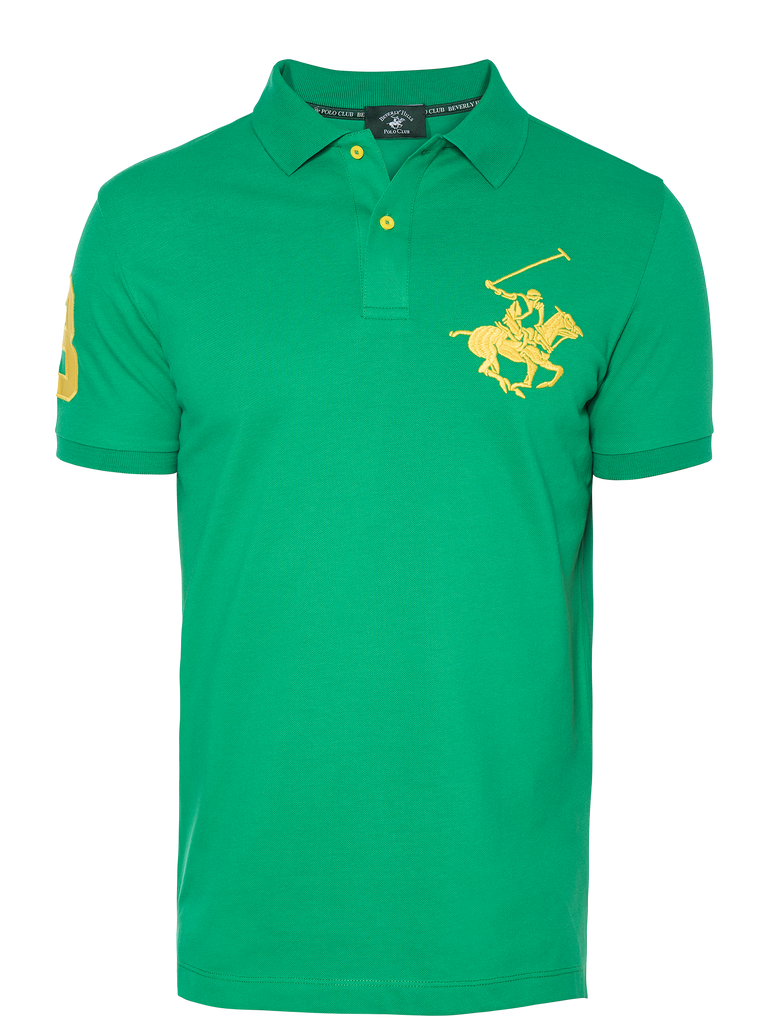PREMIUM EMERALD REGULAR FIT PIQUÉ POLO SHIRT