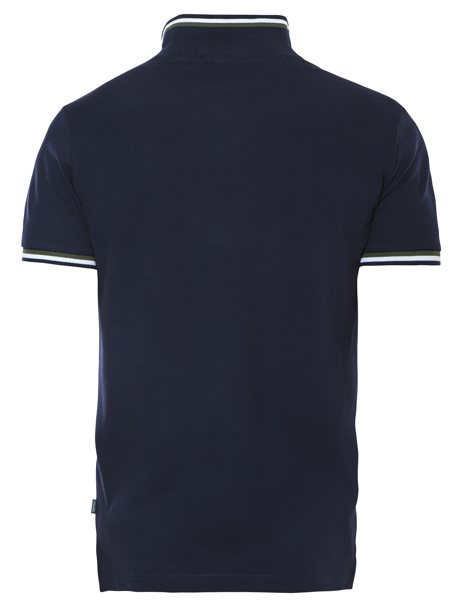 PREMIUM NAVY STRIPED REGULAR FIT PIQUÉ