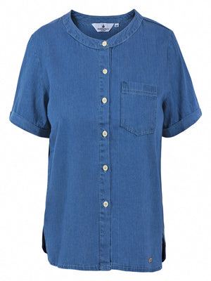 LUXURY DENIM SHORT SLEEVE SHIRT