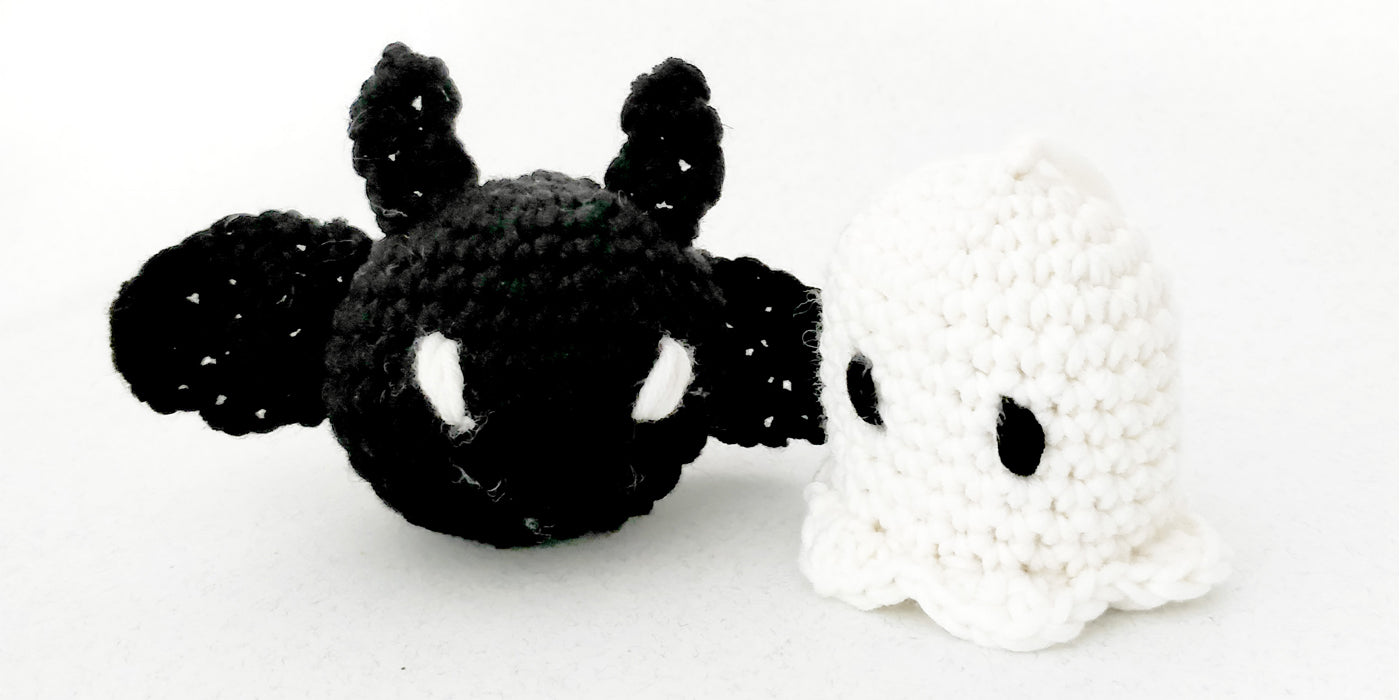 Ghost And Bat Halloween Special - Free Pattern