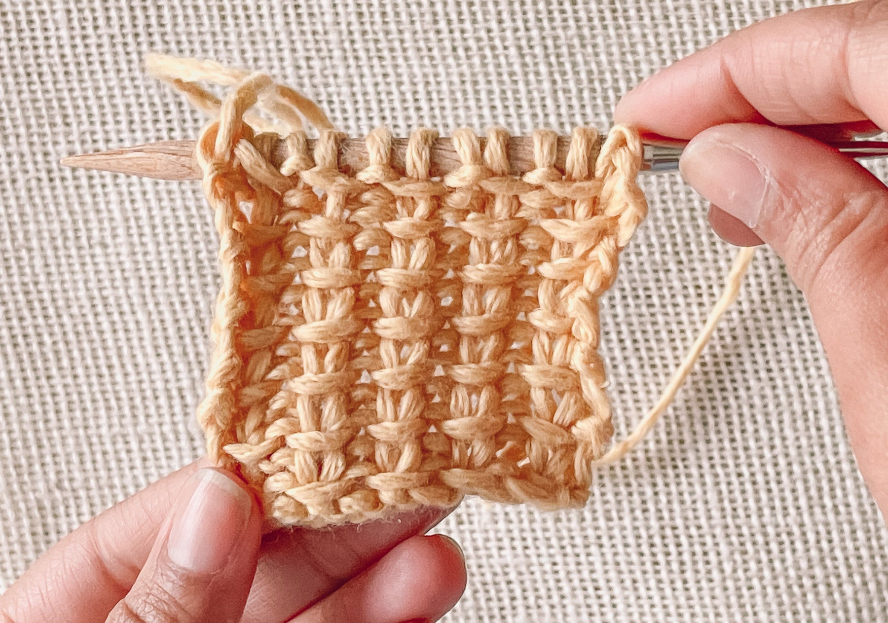 How to knit jute stitch