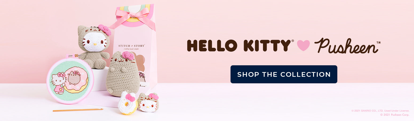Shop the Hello Kitty and Pusheen collection of craft kits and accessories at Stitch & Story