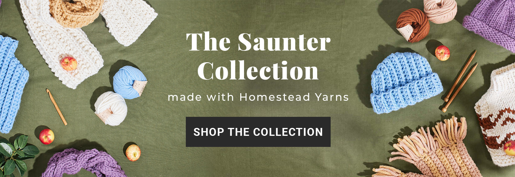 Download the Saunter Collection free knitting and crochet patterns
