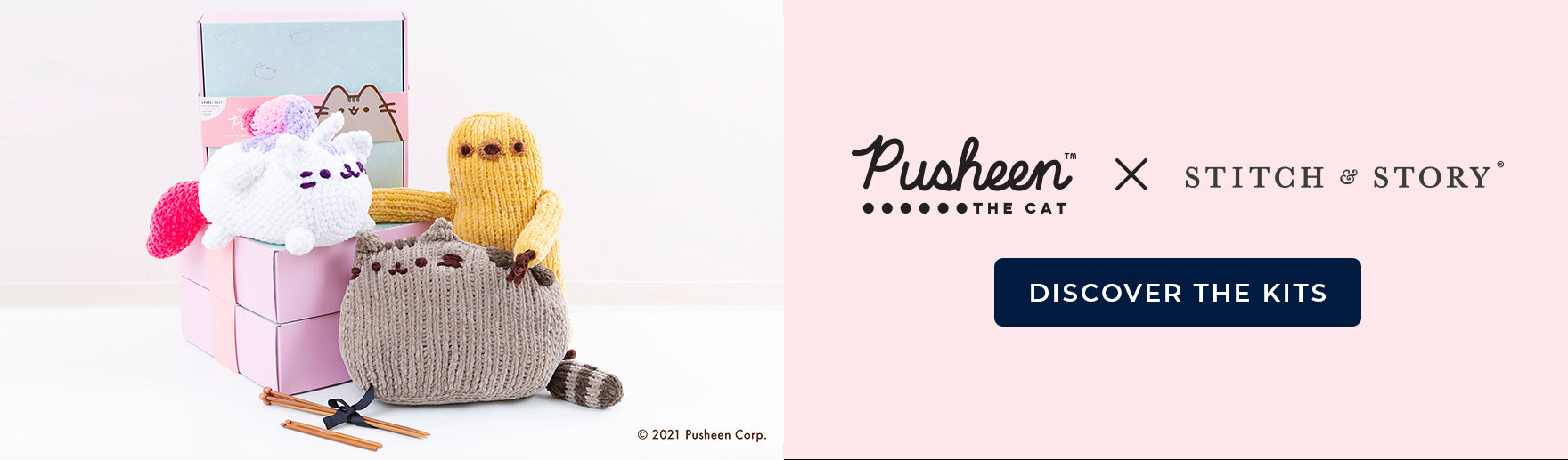 Shop the Pusheen collection of knitting and crochet kits at Stitch & Story
