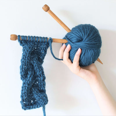 Chunky Cable Headband Knitting Kit
