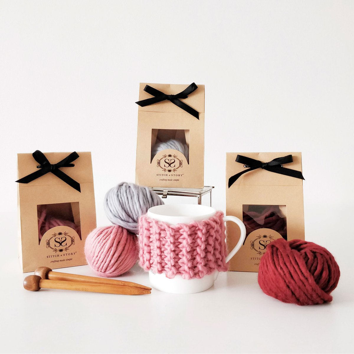Cup Cozy Mini Knitting Kit