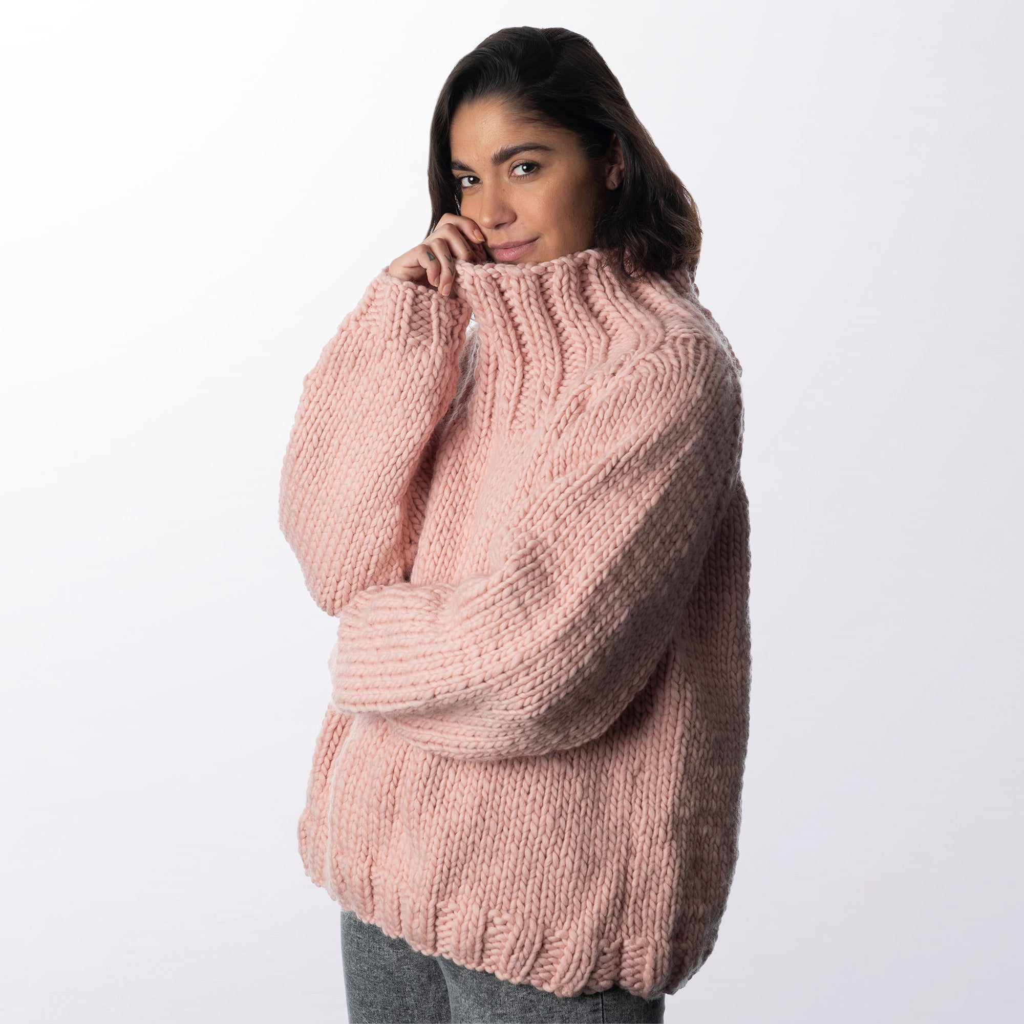 High-Neck Sweater Knitting Kit
