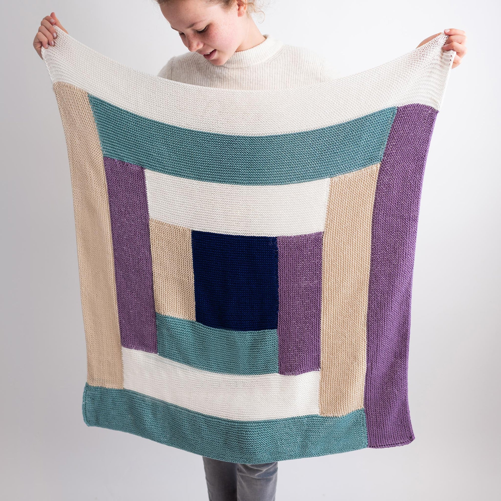 Maze Blanket PDF Pattern & Yarn Bundle