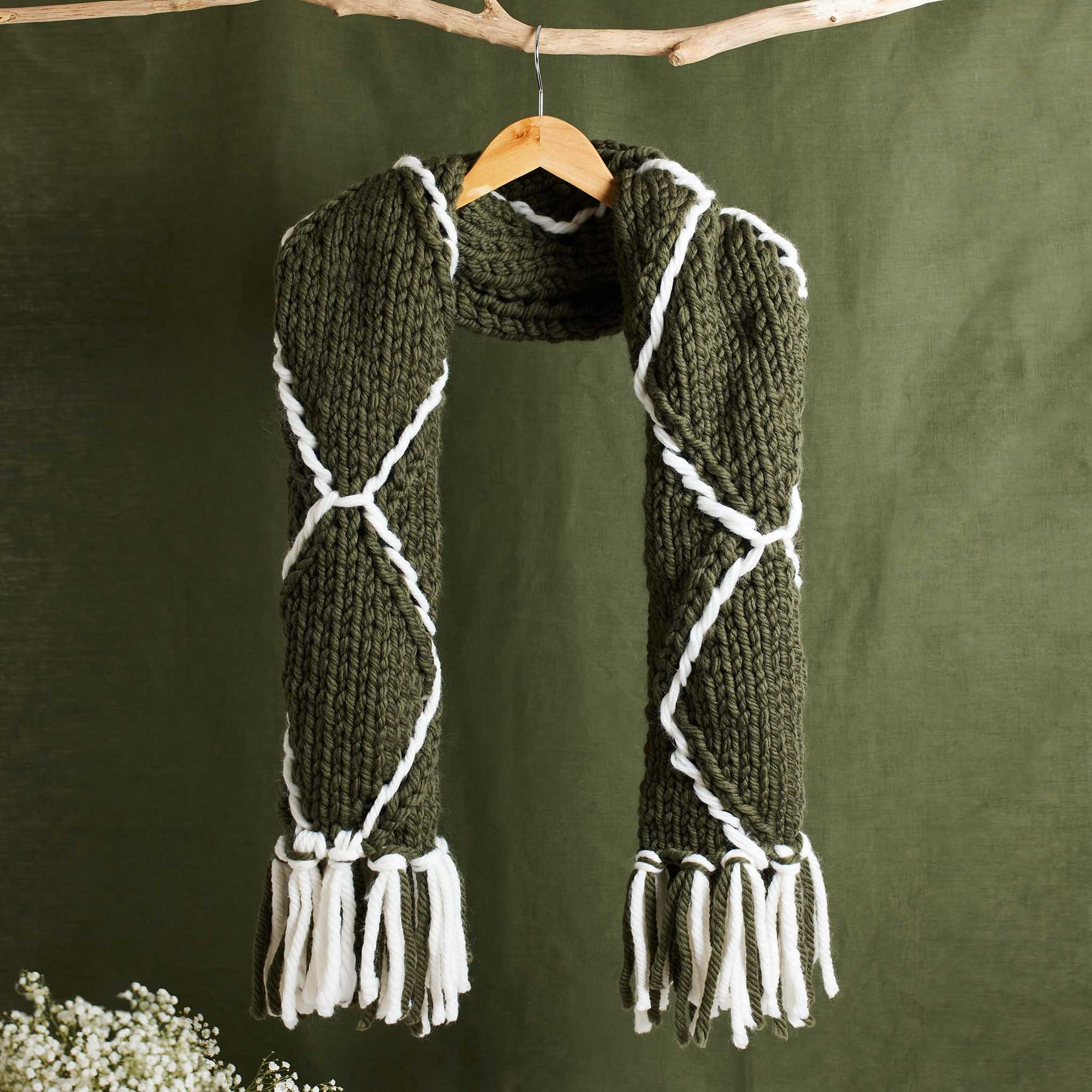 PDF Knitting Pattern: Perryway Embroidered Scarf