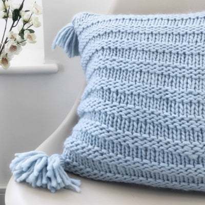 PDF Knitting Pattern: Maggie Tassel Cushion Cover