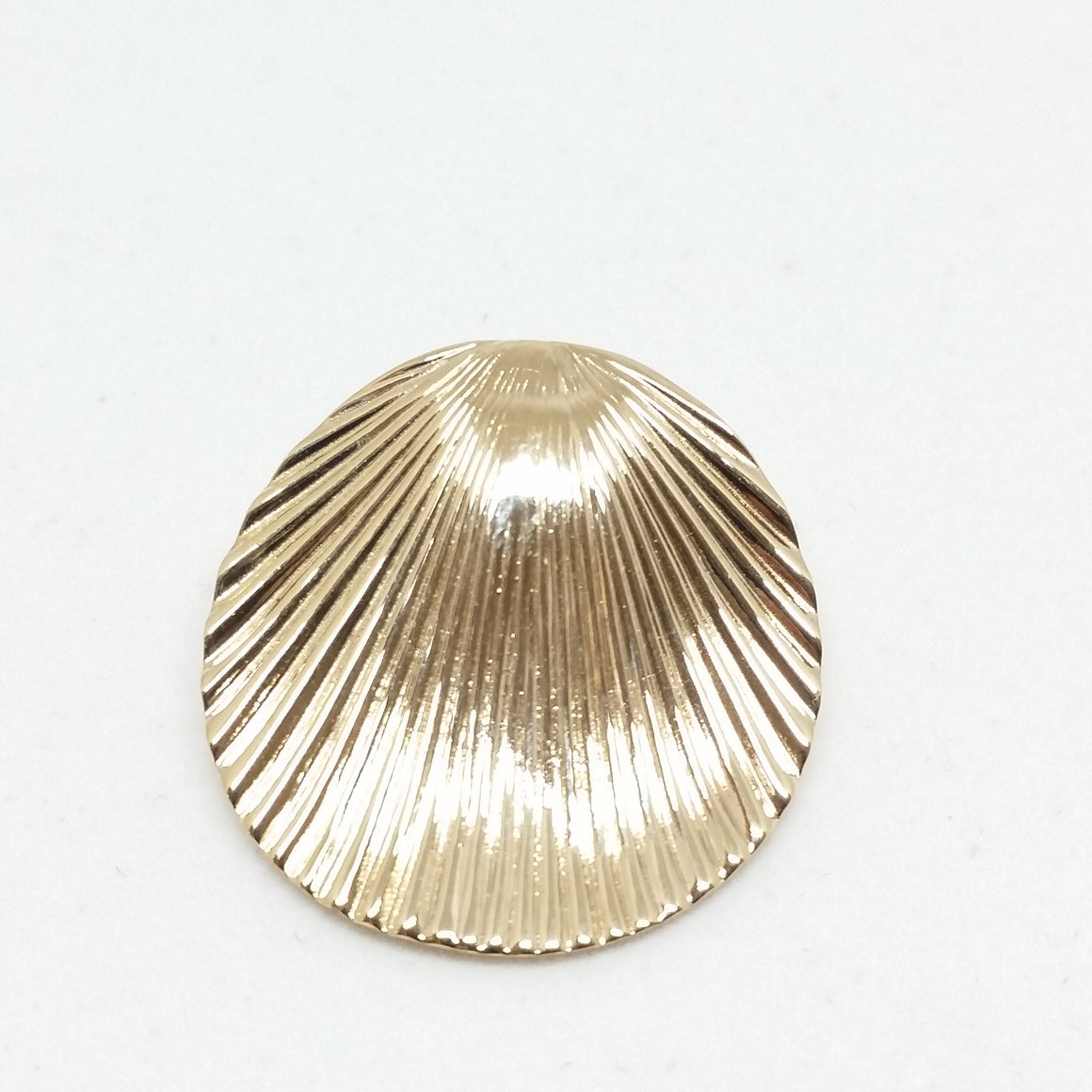 14k Yellow Gold Seashell French clip Earrings