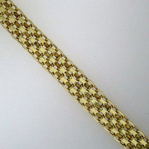 Very Intricate 14k Yellow Gold Chainmaille Link Bracelet