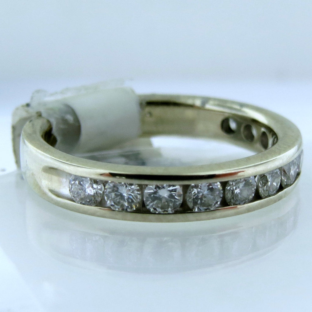 14k White Gold Channel-Set Diamond Band - 0.36TCW