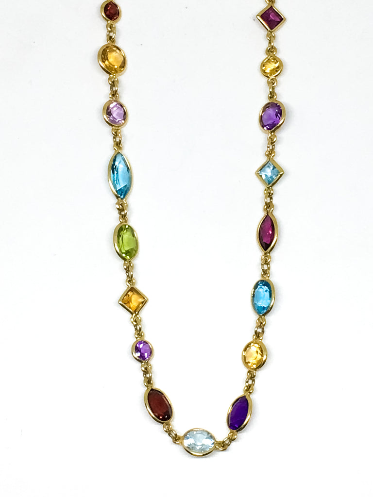 14KYG Multi Stone Necklace