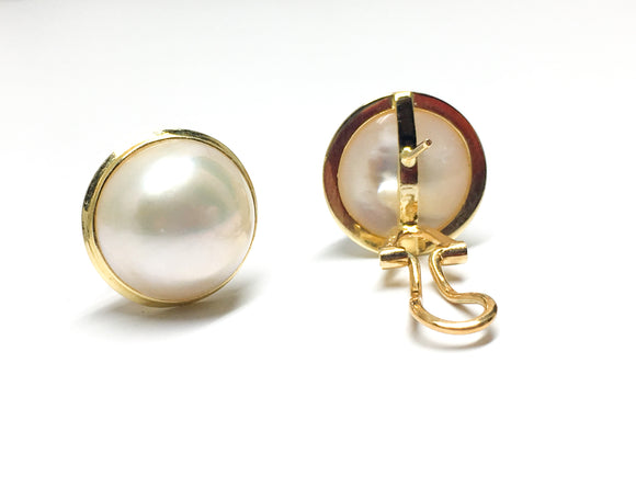 14KYG Cultured Pearl Earrings