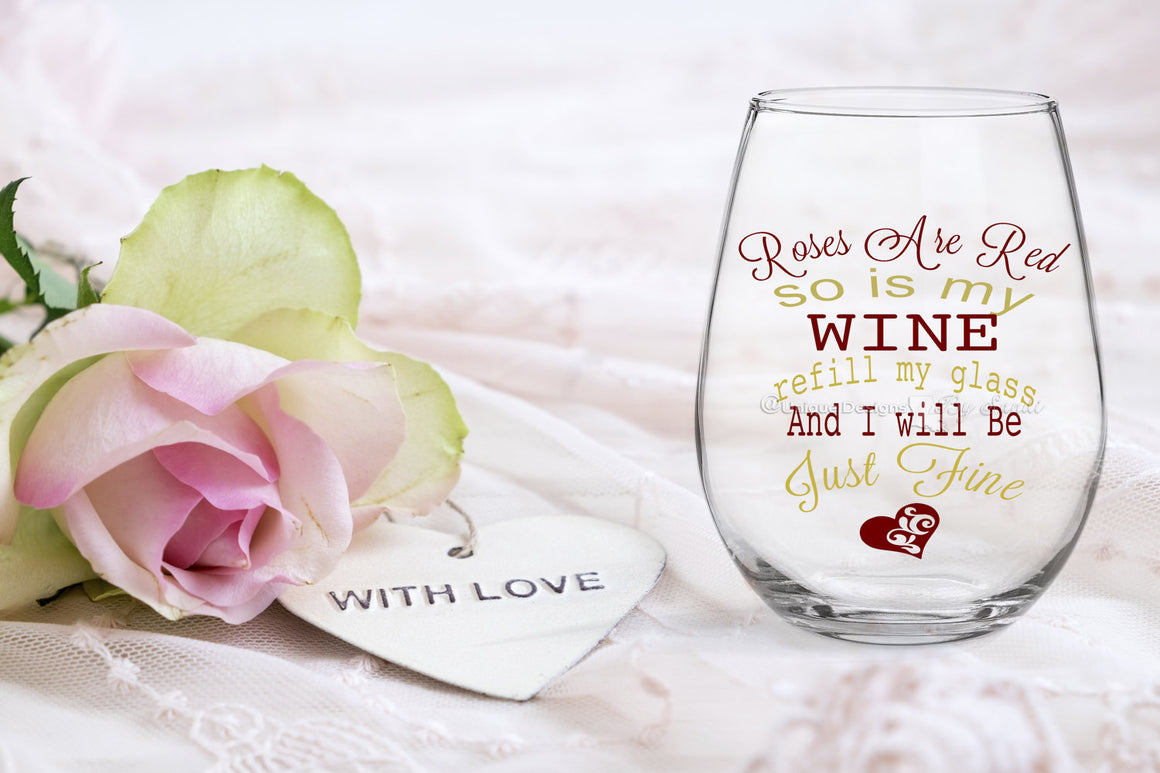I Do/I Do What She Says Wedding Wine Glass & Pilsner Glass Set