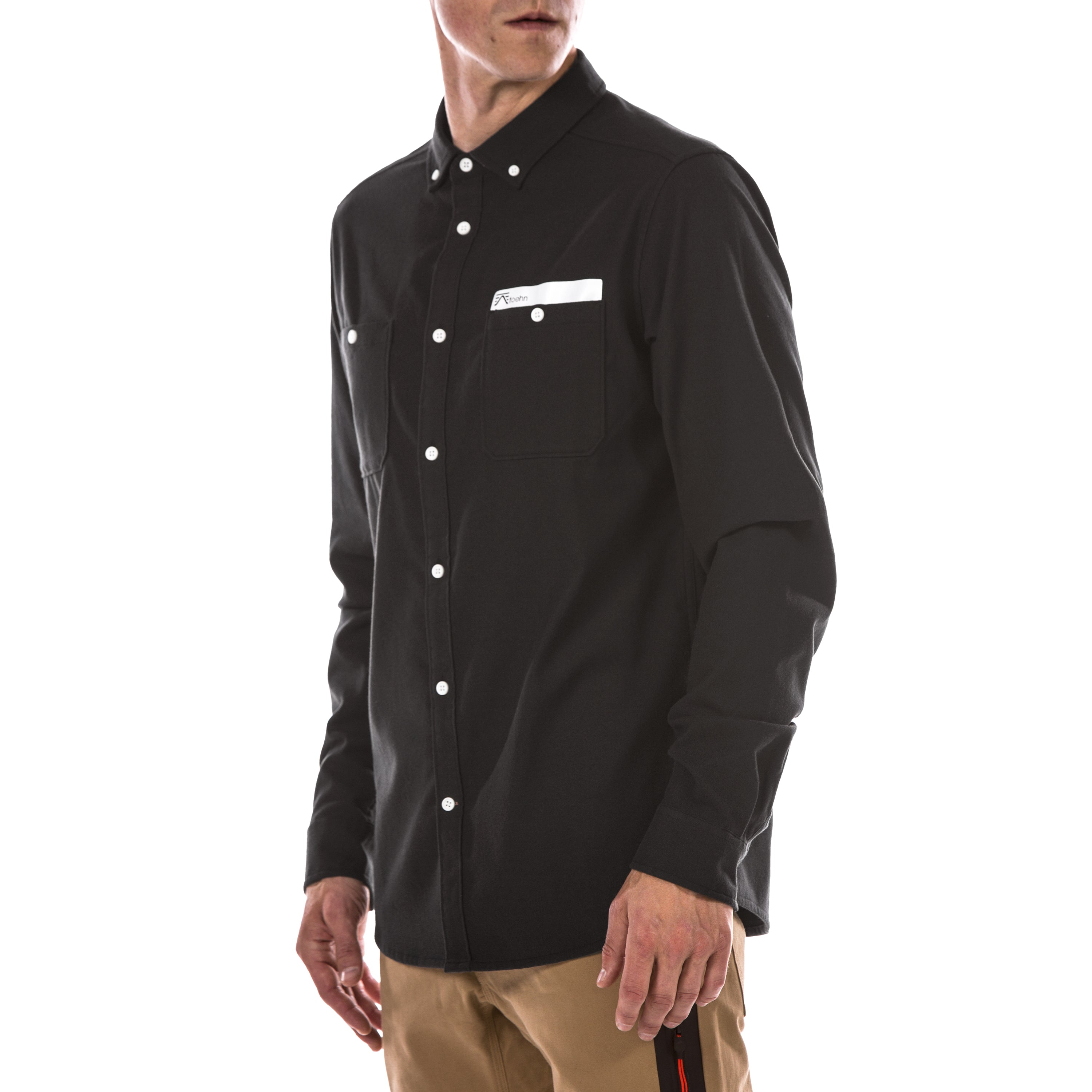 Foehn rock climbing Collins Flannel Shirt Black