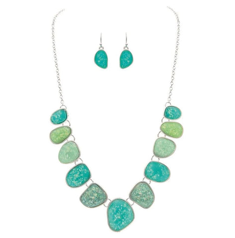 MINT SEA OPALS NECKLACE SET