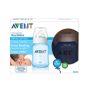 Kit 3 Mamadeiras Avent Philips 260ml - Azul