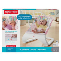 Bouncer da curva do conforto de Fisher-Price - tempo do chá minúsculo
