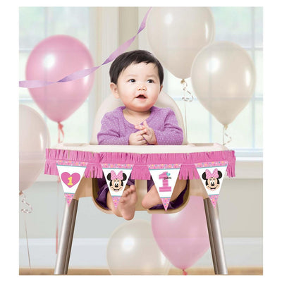 Kit de cadeira alta Minnie Mouse 1st Birthday