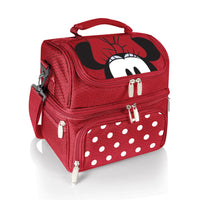 Tote do almoço de Minnie Mouse do tempo do piquenique - vermelho