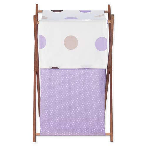 Cesto - Purple and Chocolate Dots - JoJo Designs