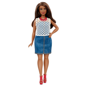 Barbie Fashionistas Boneca 32 Dolled Up Denim - Curvilínea
