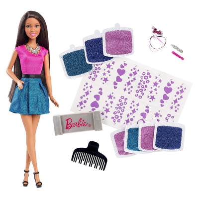 Barbie Glitter Hair Design Boneca afro-americana
