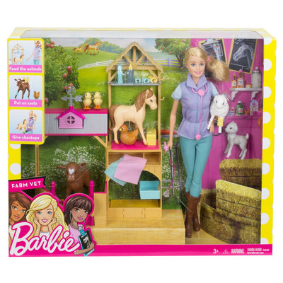 Barbie Carreiras Farm Vet Doll and Playset