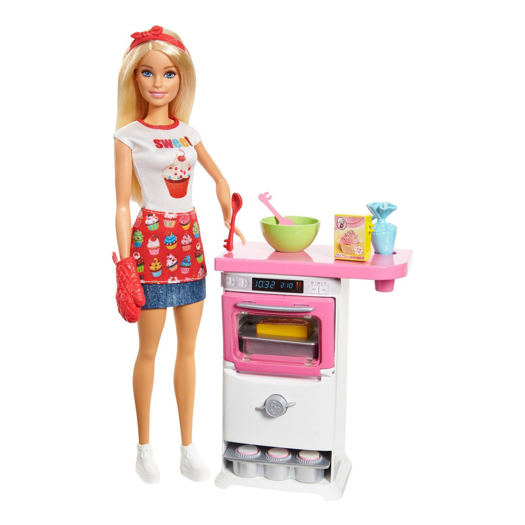 Barbie Bakery Chef Boneca E Playset