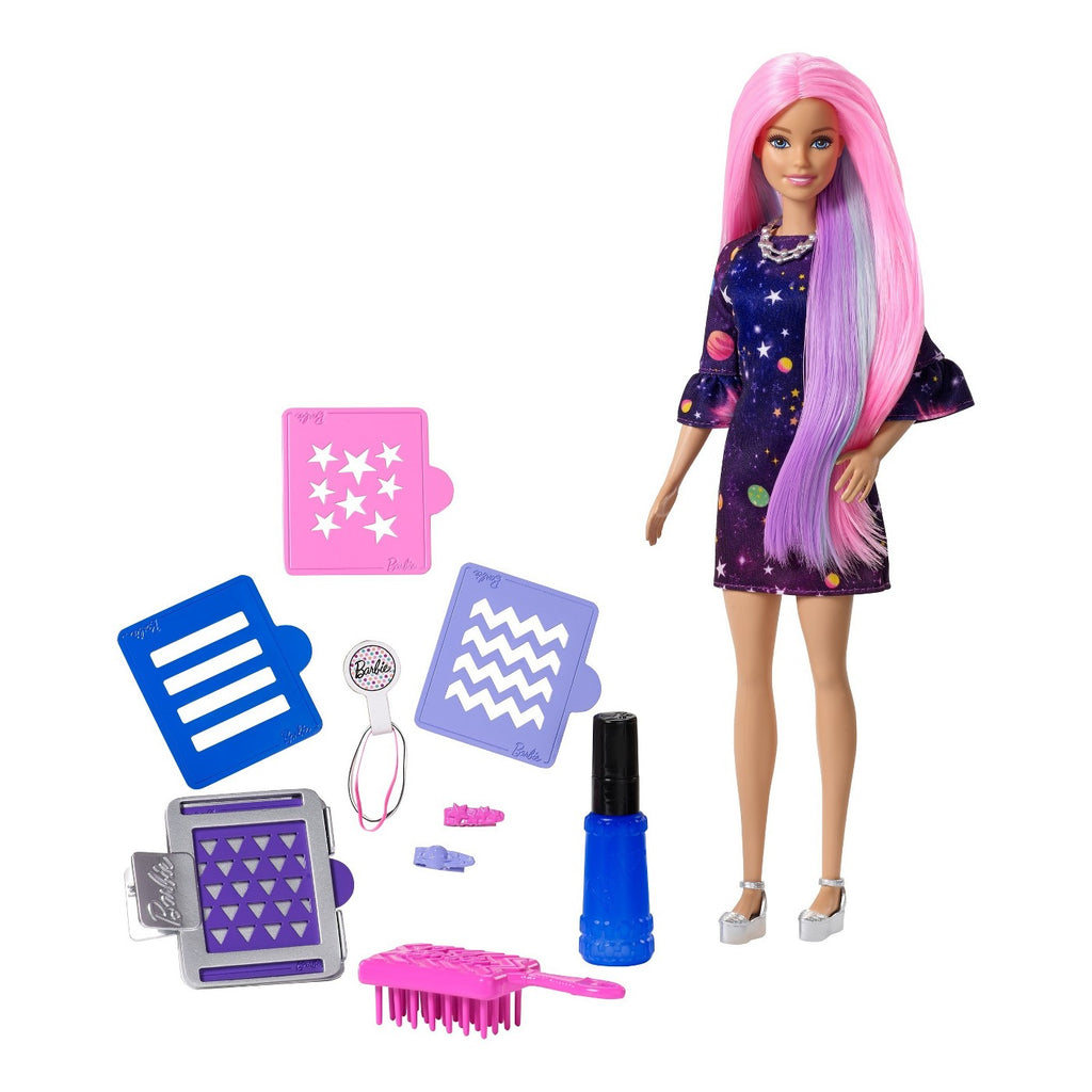Barbie Cor Surprise Hair Boneca
