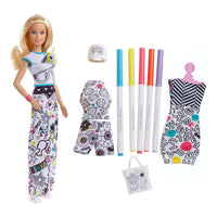 Barbie Crayola Color-In Modas Boneca