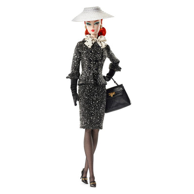 Boneca Barbie Colecionador BFMC Black & White Tweed Suit