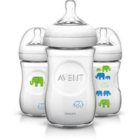 Kit 3 Mamadeiras Elefante 260ml - Azul - Avent Philips