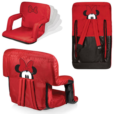 Hora do piquenique Disney Minnie Mouse Ventura portátil Reclining Stadium Seat - Vermelho