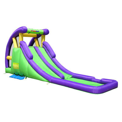 Bounceland Double Water Slide com piscina Splash