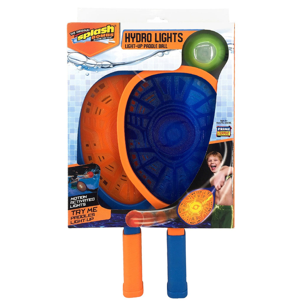 Respingo Bombas Hidro Luzes Light-up Paddle Ball Set