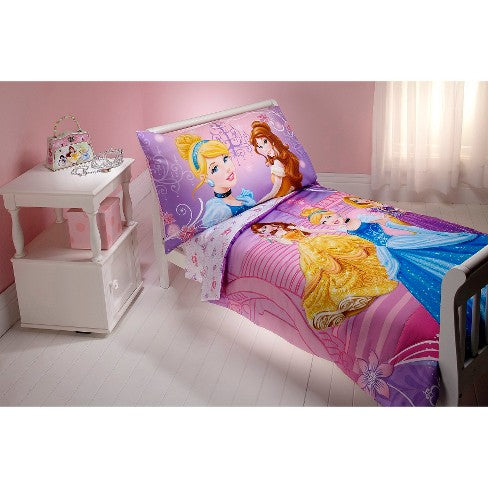 Disney Princess Dress to Shine! 4 Piece Bedding Set - Toddler