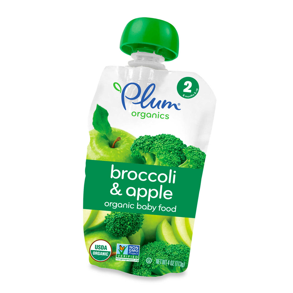 Ameixa Organics Second Blends Broccoli e Apple Baby Food Pouch
