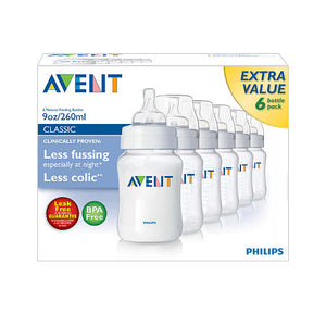 Avent Philips - kit 6 Mamadeiras 260ml