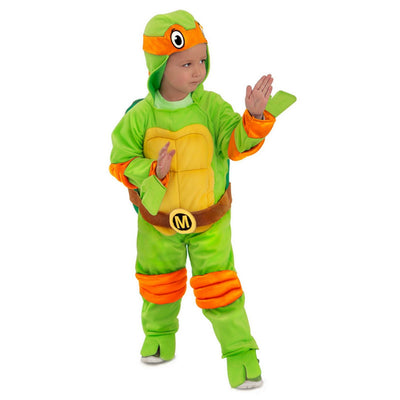 Teenage Mutant Ninja Turtles Meninos 'Michelangelo Jumpsuit Halloween Costume - Princess Paradise