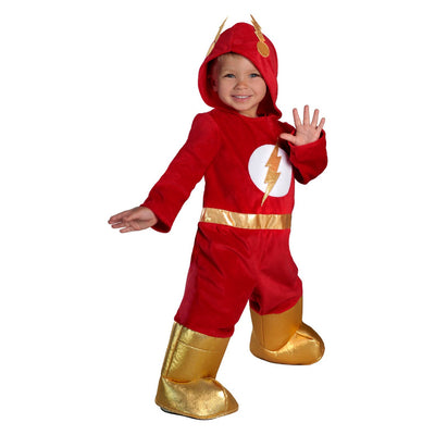 Bebê o flash jumpsuit halloween traje 6-12m