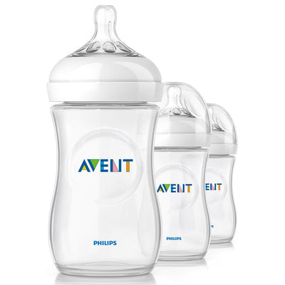 NOVO! Kit 3 Mamadeiras Natural Flow - Avent Philips - 260ml